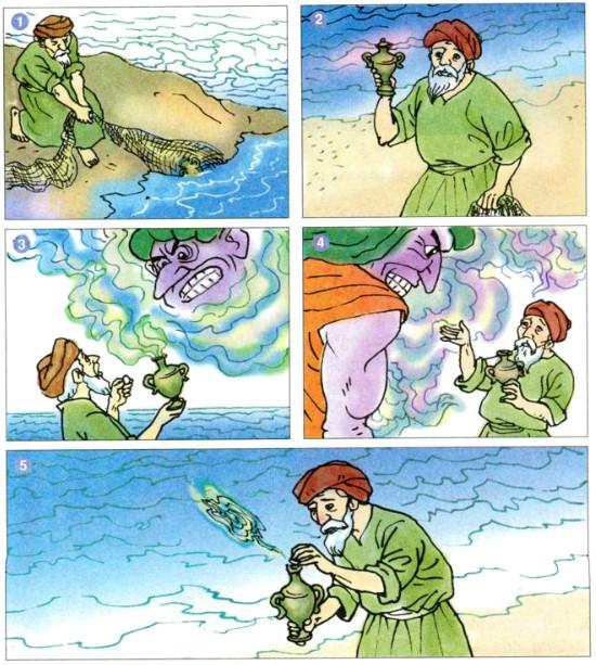 Kể chuyện: Bác đánh cá và gã hung thần (SGK Tiếng Việt 4 tập 2-trang 8) 1