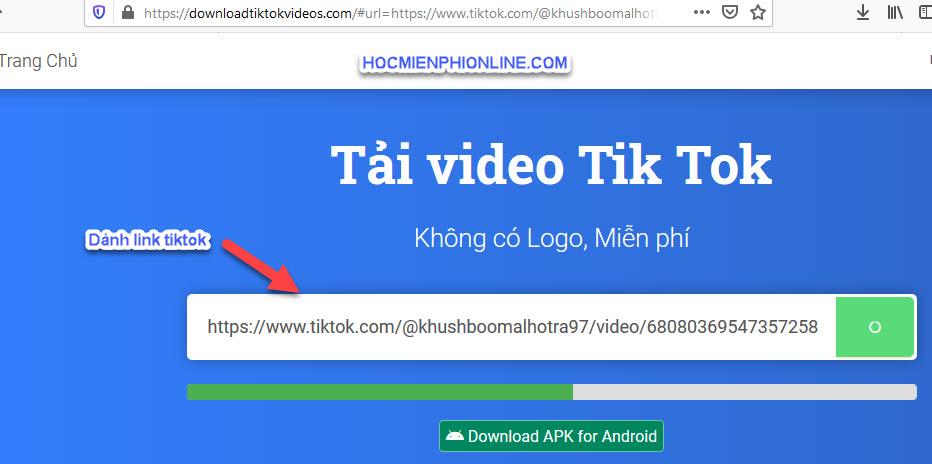 Tải video tiktok không gắn logo