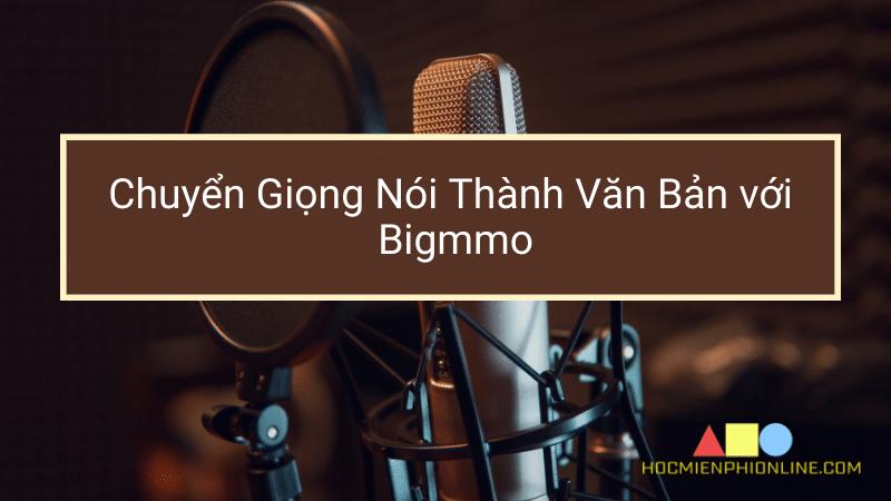 Chuyển Giọng Nói Thành Văn Bản với Bigmmo 1