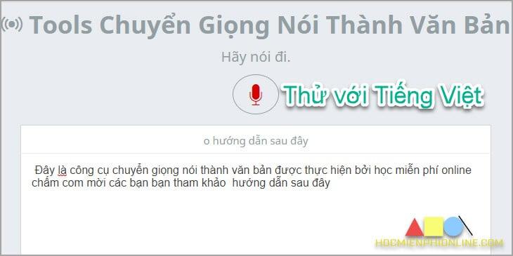 Chuyển giọng nói thành văn bản tiếng Việt
