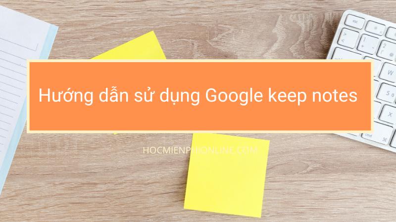google keep notes