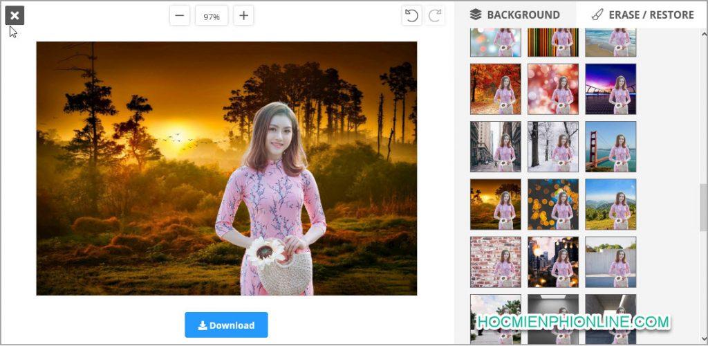 Hướng dẫn remove background ảnh nền 1