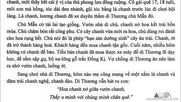Tả cây chanh nhà dì Thương