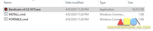 Cài đặt phần mềm bandicam bước 1