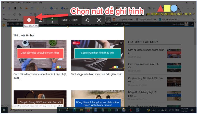 Chụp màn hình với phần mềm snagit