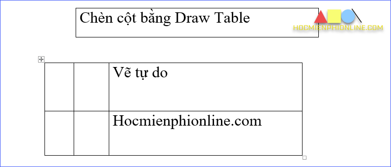 draw talbe in word 2016